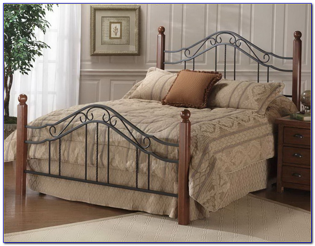 King Size Iron Headboard And Footboard