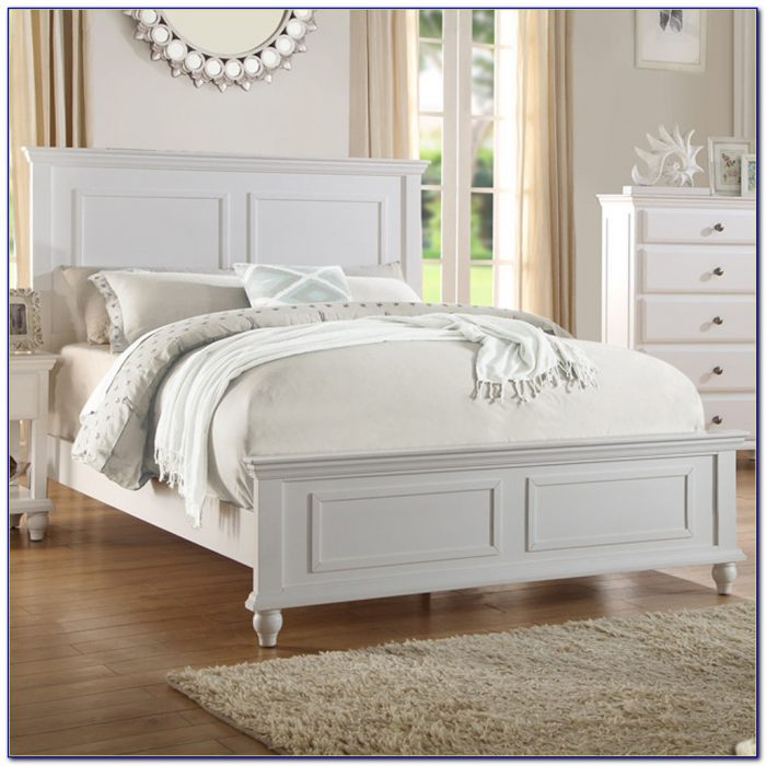 White Queen Bed Frame And Headboard