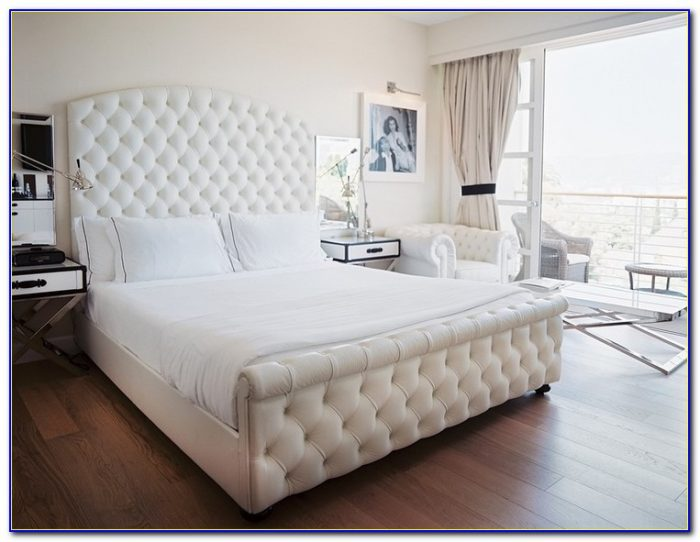White Queen Headboard And Footboard
