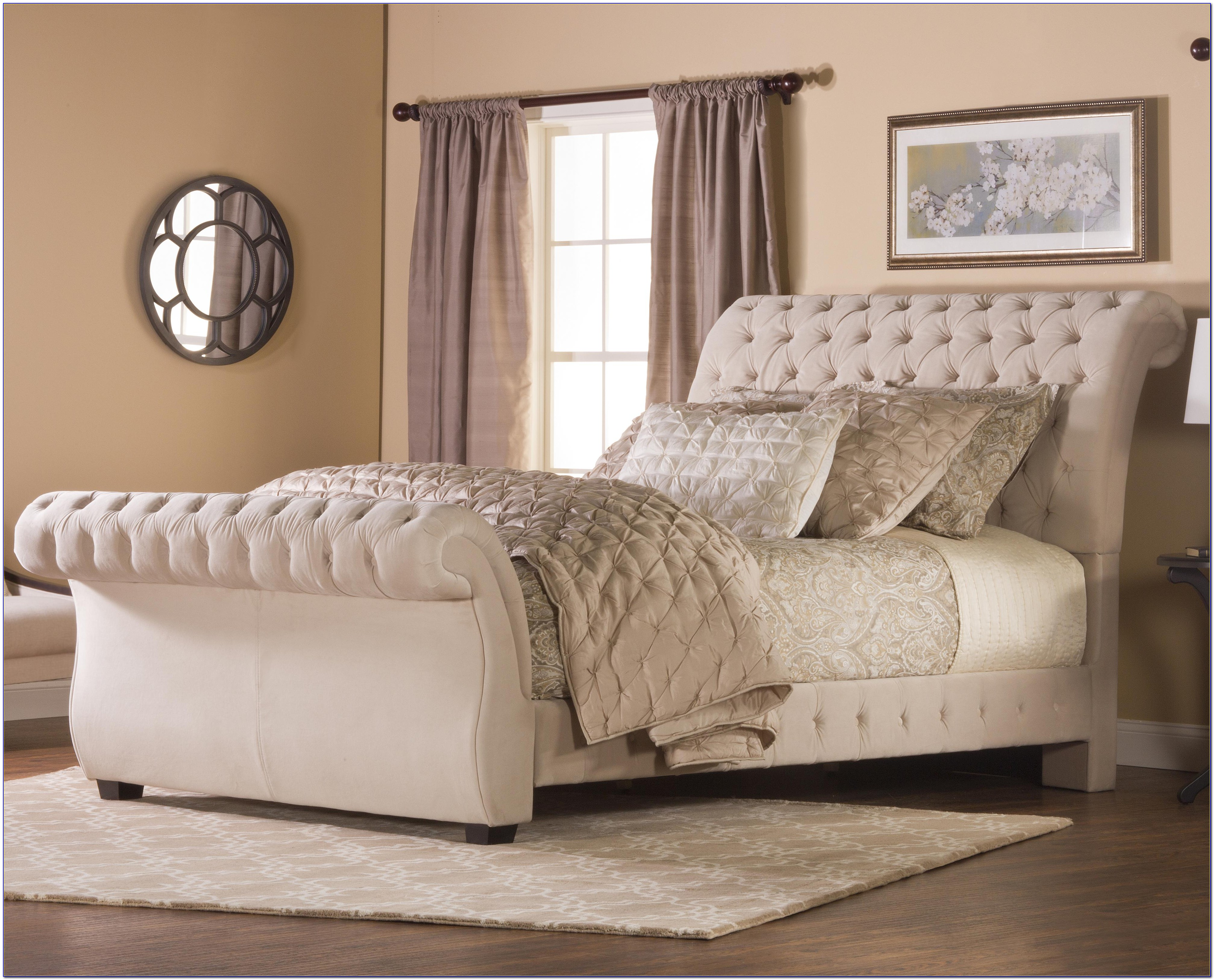 White Upholstered King Size Headboard