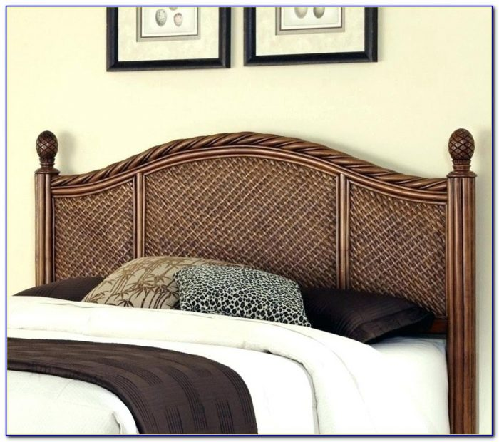 White Wicker Headboard Full Size