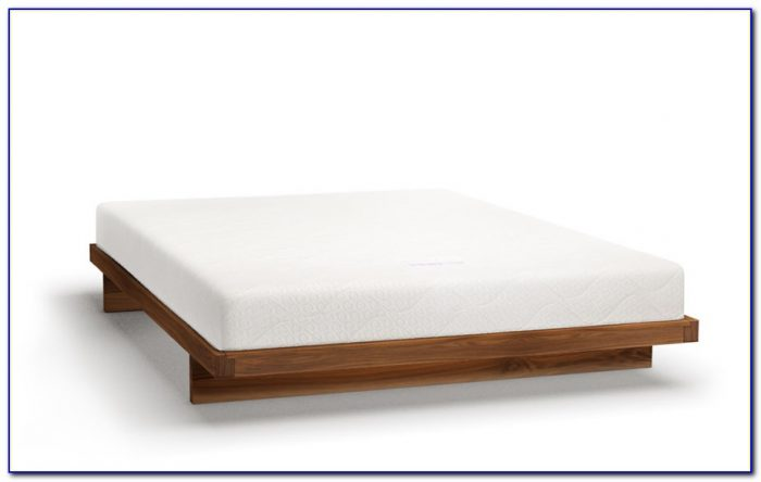 White Wooden Bed Frame Without Headboard