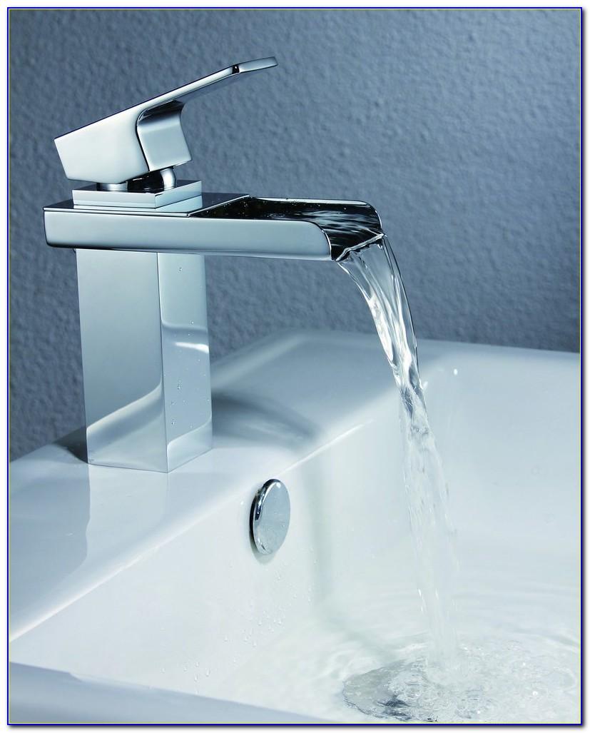Widespread Bathroom Sink Waterfall Faucet