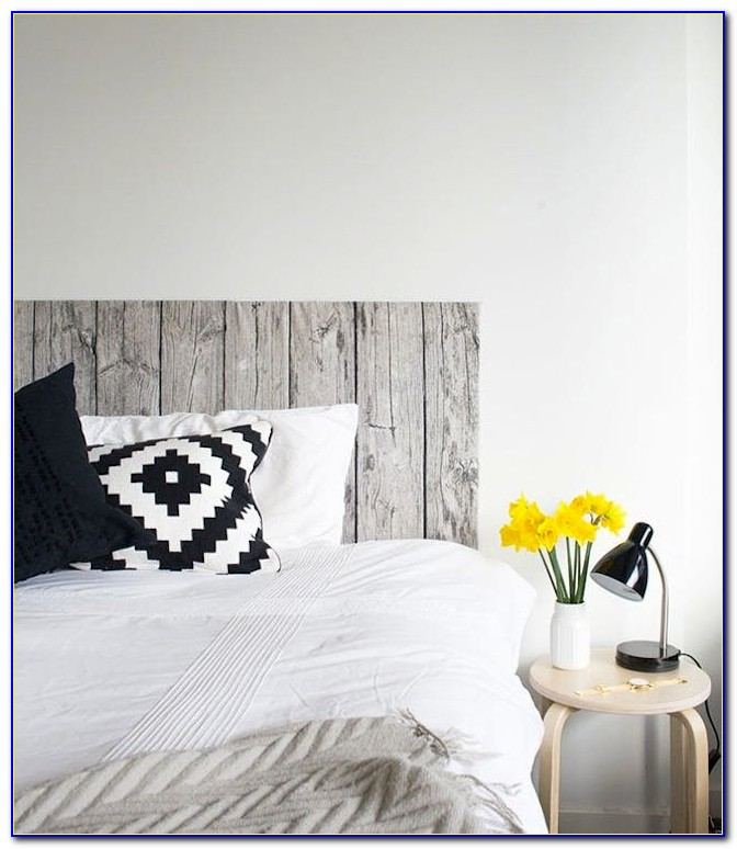Wood And Fabric Headboard