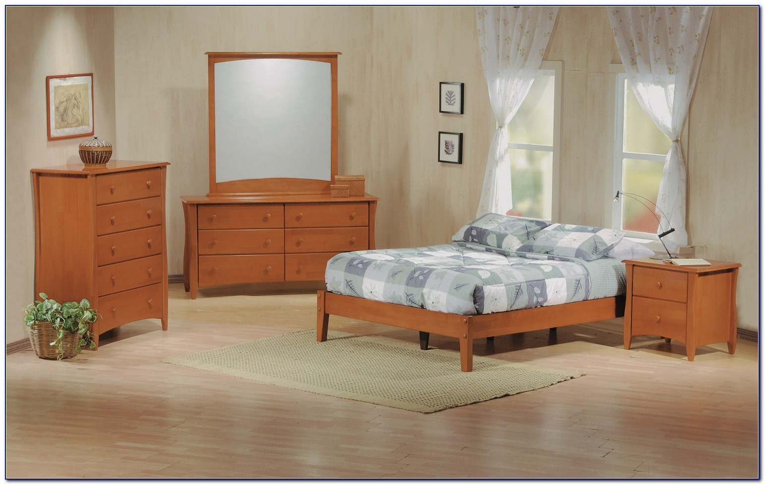 Wood Bed Frame Queen No Headboard