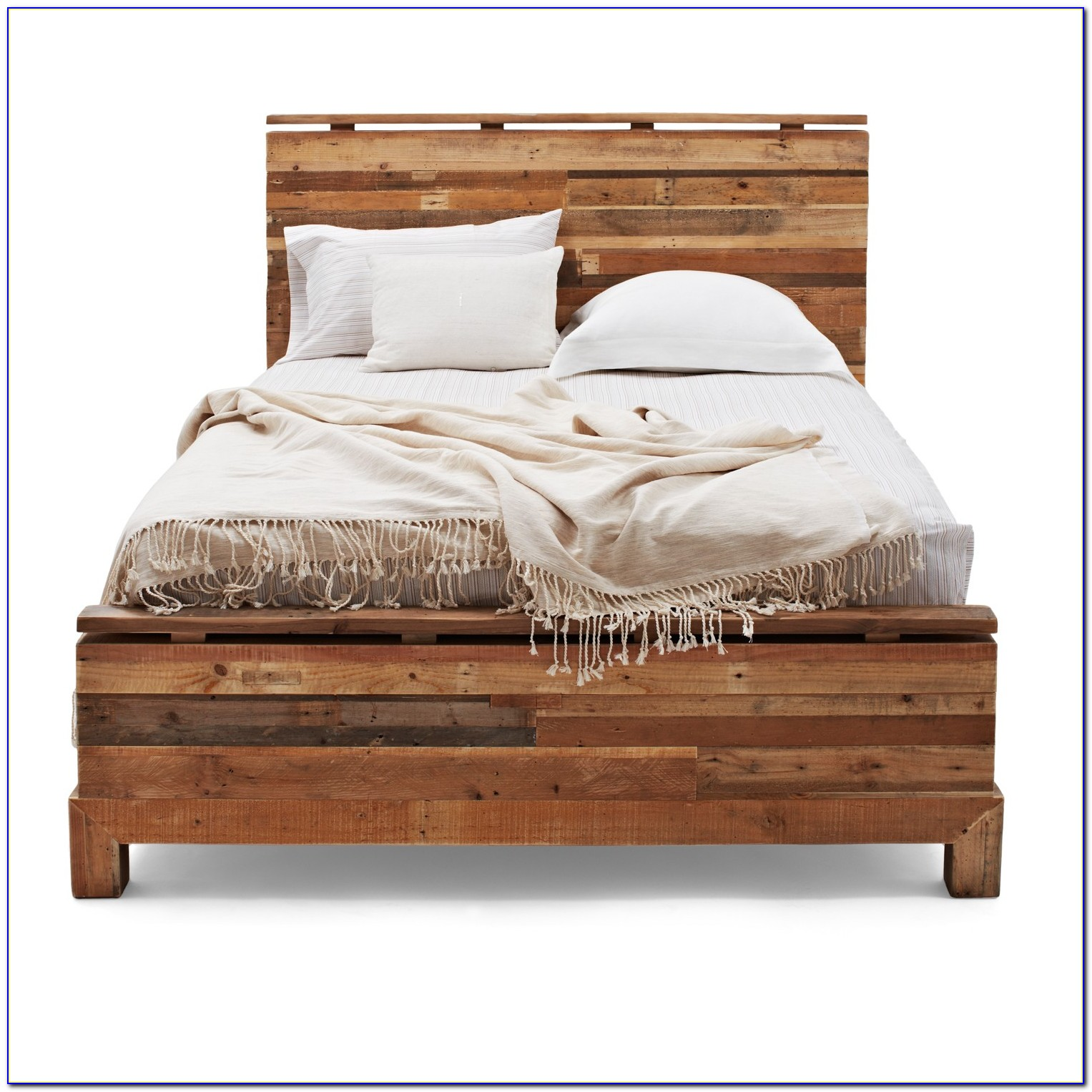 Wood Bed Frame With Headboard
