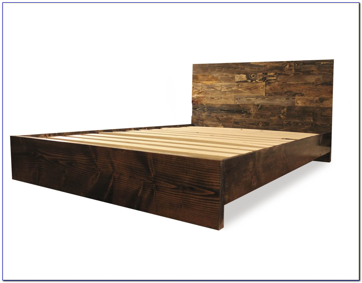 Wooden Bed Frame And Headboard