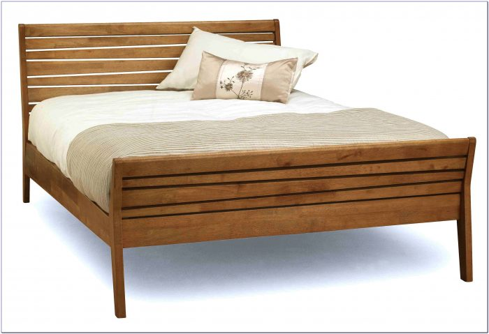 Wooden Bed Frame With Headboard Pad