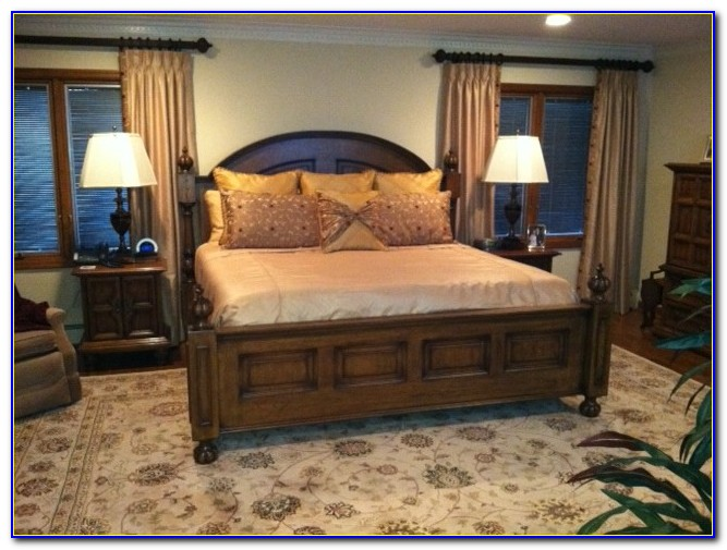 King Size Bed Frame Low Headboard