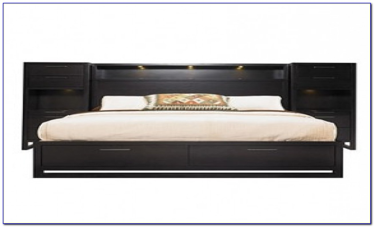 King Size Headboard With Shelves Plans