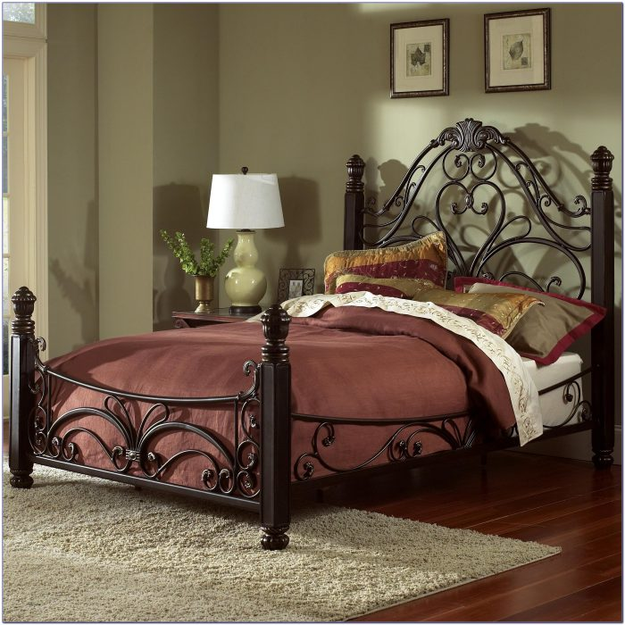 Metal Queen Size Bed Frame With Headboard