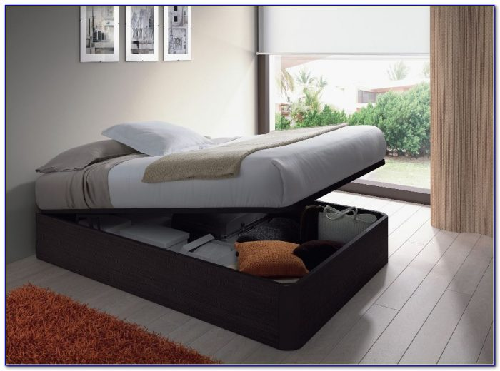 Storage Bed Without Headboard Uk